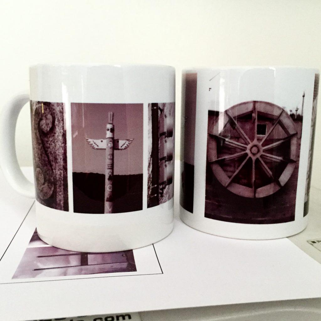 letter art mugs