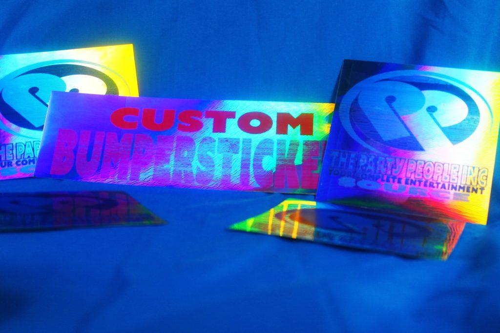Metallic Custom Stickers